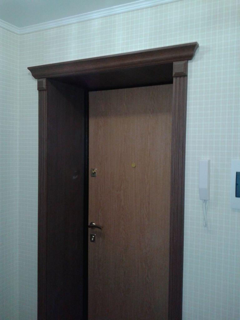 Как сделать откосы из панелей на входную дверь